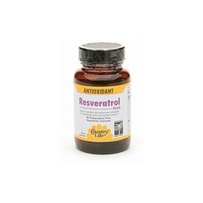 Resveratrol Plus 60 Vcap By Country Life Vitamins (1 Each)