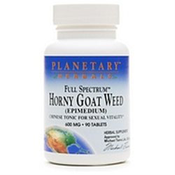 Planetary Herbals Full Spectrum Horny Goat Weed 600mg, 90 tablets