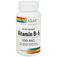 Solaray Vitamin B-6 - 100 mg - 60 Vegetarian Capsules