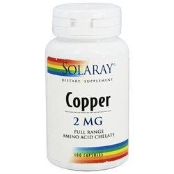 Solaray - Copper, 100 tablets [Health and Beauty]