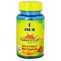 Vitamin E 400 IU Nature's Life 50 Softgel