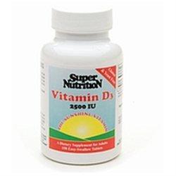 Super Nutrition - Vitamin D3 2500 IU - 150 Tablets