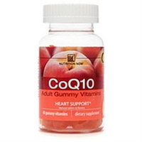 Nutrition Now CoQ10, Adult Gummy Vitamins, Peach 60 gummy vitamins