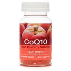 Nutrition Now CoQ10, Adult Gummy Vitamins, Peach 60 gummy vitamins