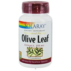 Solaray Olive Leaf Extract - 250 mg - 60 Capsules