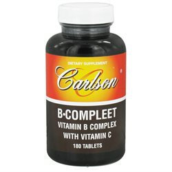 Carlson Laboratories B-Compleet - 180 Tablets - Vitamin B Complex