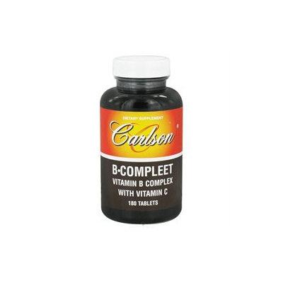 Carlson Laboratories B-Compleet - 180 Tablets - Vitamin B Complex