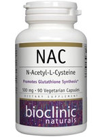 Bioclinic Naturals - NAC N-Acetyl-L-Cysteine 500 mg. - 90 Vegetarian Capsules