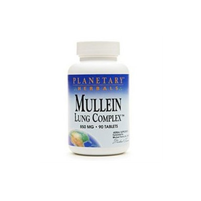 Planetary Herbals Mullein Lung Complex 850mg, 90 tablets