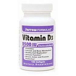 Jarrow Formulas - Vitamin D3 Cholecalciferol 2500 IU - 100 Softgels