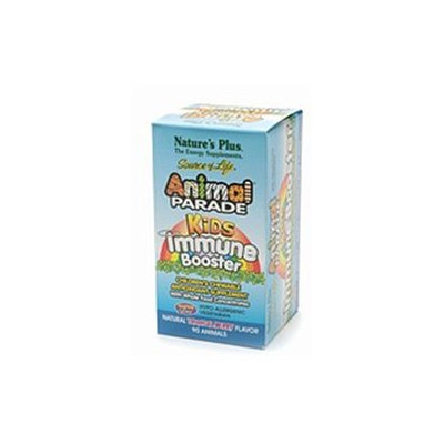 Nature's Plus Animal Parade Kids Immune Booster Tropical Berry - 90 Chewable Tablets