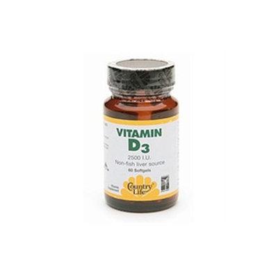 Vitamin D3 2500 Iu 60 Sgel By Country Life Vitamins (1 Each)
