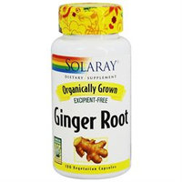 Solaray Organic Ginger Root - 100 Capsules - Other Herbs