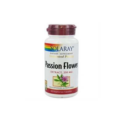 Solaray Passion Flower Extract - 250 mg - 60 Vegetarian Capsules
