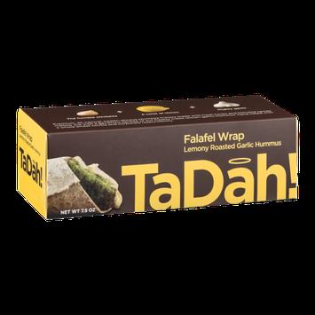 TaDah Falafel Wrap Lemony Roasted Garlic Hummus
