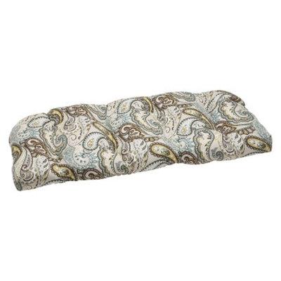 Pillow Perfect Outdoor Wicker Loveseat Cushion - Tamara Paisley
