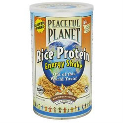 VegLife - Peaceful Planet Rice Protein Energy Shake Caribbean Cocoa - 13.2 oz.