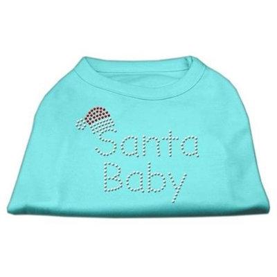 Mirage Pet Products 522510 MDAQ Santa Baby Rhinestone Shirts Aqua M 12
