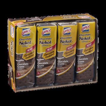 Lance Chocolate Nekot Cookies Chocolate Creme Packs - 8 CT