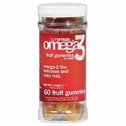 Coromega Omega 3 Fruit Gummies for Adults, 60 ea
