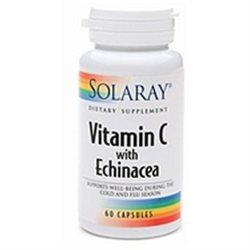 Solaray Vitamin C-with Echinacea 1000mg, 60 ea
