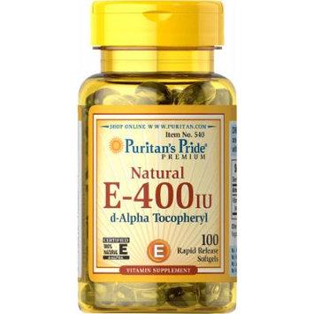 Puritan's Pride Vitamin E-400 iu 100% Natural-100 Softgels