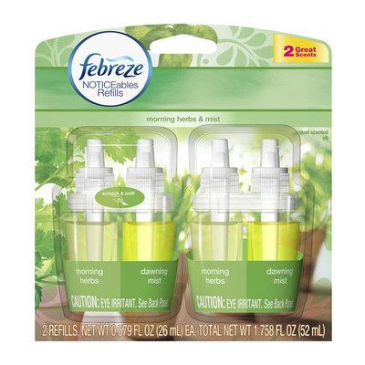 Febreze NOTICEables Morning Herbs & Mist Dual Scented Oil Refills