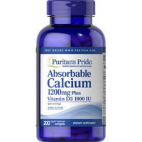 Puritan's Pride Absorbable Calcium 1200 mg with Vitamin D3 1000 IU-200 Softgels