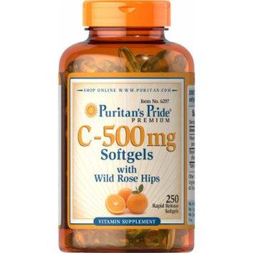 Puritan's Pride Vitamin C-500 mg with Rosehips-250 Softgels