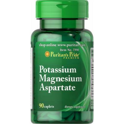 Puritan's Pride Potassium Magnesium Aspartate-90 Caplets