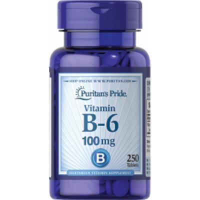 Puritan's Pride Vitamin B-6 (Pyridoxine Hydrochloride) 100 mg-250 Tablets