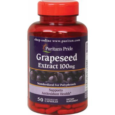 Puritan's Pride Grapeseed Extract 100 mg-50 Capsules