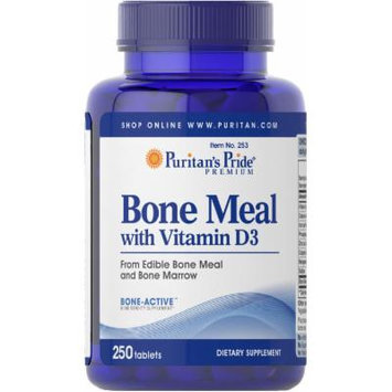 Puritan's Pride Bone Meal with Vitamin D-250 Tablets