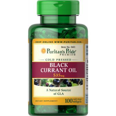 Puritan's Pride Black Currant Oil 535 mg-100 Softgels