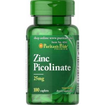 Puritan's Pride Zinc Picolinate 25 mg-100 Caplets