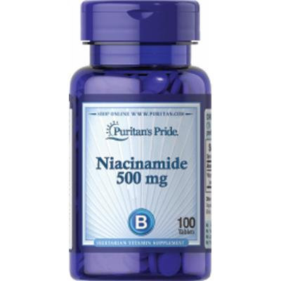 Puritan's Pride Niacinamide 500 mg-100 Tablets
