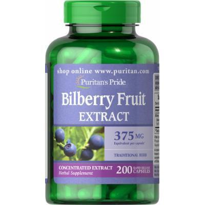 Puritan's Pride Bilberry 375 mg-200 Capsules
