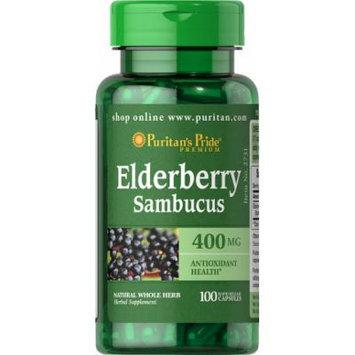 Puritan's Pride Elderberry 400 mg-100 Capsules