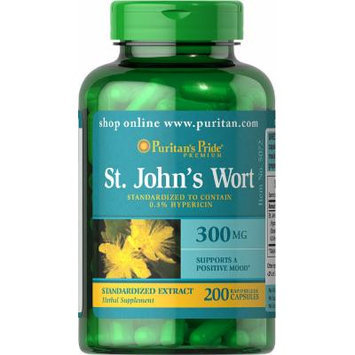 Puritan's Pride St. John's Wort Standardized Extract 300 mg-200 Capsules