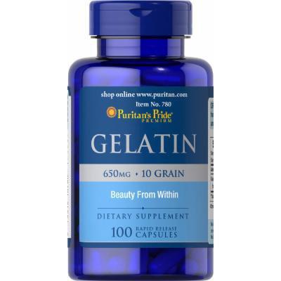 Puritan's Pride Gelatin 650 mg-100 Capsules