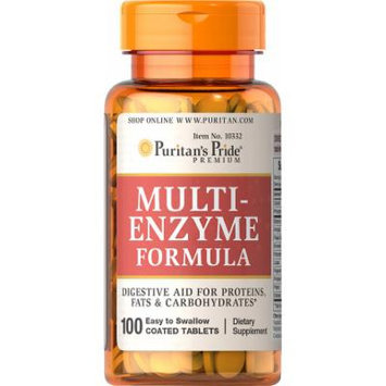 Puritan's Pride Multi Enzyme-100 Tablets