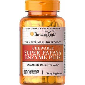 Puritan's Pride Chewable Super Papaya Enzyme Plus-180 Chewables