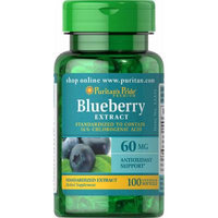 Puritan's Pride Blueberry Leaf Standardized Extract 60 mg-100 Softgels