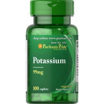 Puritan's Pride Potassium 99 mg-100 Caplets
