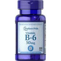 Puritan's Pride Vitamin B-6 (Pyridoxine Hydrochloride) 50 mg-100 Tablets