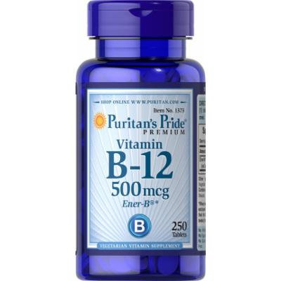 Puritan's Pride Vitamin B-12 500 mcg-250 Tablets
