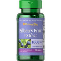 Puritan's Pride Bilberry 4:1 Extract 1000 mg-90 Softgels