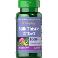 Puritan's Pride Milk Thistle 4:1 Extract 1000 mg (Silymarin)-90 Softgels