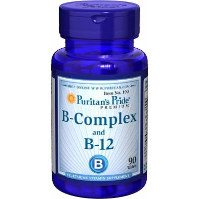 Puritan's Pride Vitamin B-Complex and Vitamin B-12-90 Tablets