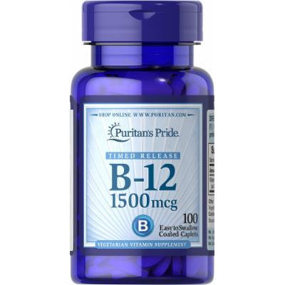 Puritan's Pride Vitamin B-12 1500 mcg Timed Release-100 Tablets